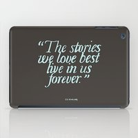 harry potter iPad Cases featuring Harry Potter Quote #2 by Marcela Caraballo