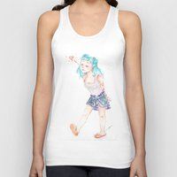 turquoise Tank Tops featuring Turquoise by Thays Oyakawa