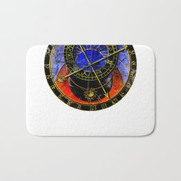 astronomical clock Bath Mat