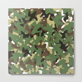 Camouflage Forest style Metal Print