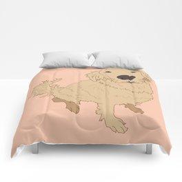 Golden Retriever Love Dog Illustrated Print Comforters