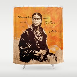 FRIDA KAHLO - the mistress of ARTs - quote Shower Curtain