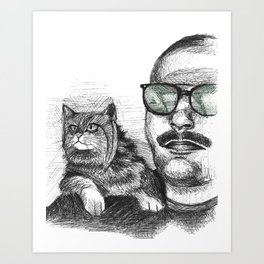 Max and Curly Art Print