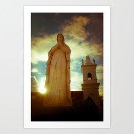 Statue of St. Michael's Church in Goa, India Art Print