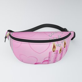 Candles and hearts Fanny Pack