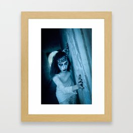 The Woman in White Framed Art Print