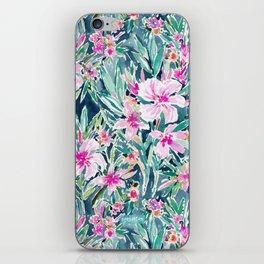 LUSH OLEANDER Tropical Watercolor Floral iPhone Skin