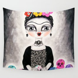 Frida day of the dead Wall Tapestry