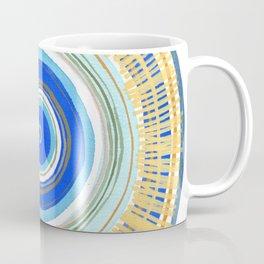 Turquoise Evil Eye Mandala Coffee Mug
