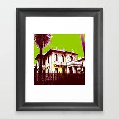 VIEILLEDAMEVERTE Framed Art Print