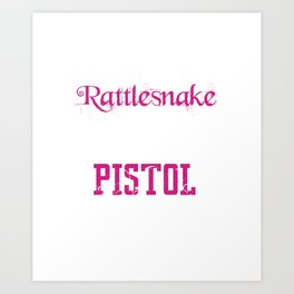 Meaner than a Rattlesnake Funny Southern Graphic T-shirt Art Print
