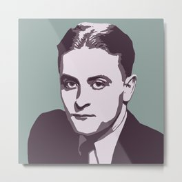 F. Scott Fitzgerald Metal Print