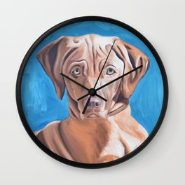 Sou the Vizsla Wall Clock