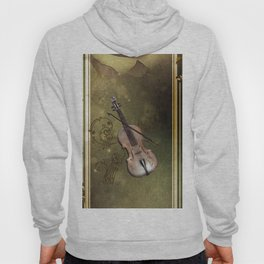 Wonderful violin with clef and key notes Hoody