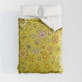 retro flower power wallpaper dreams // art by surfy birdy Comforters