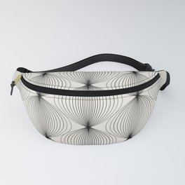 Geometric Orb Pattern - Black Fanny Pack