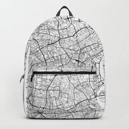 Shanghai Map White Backpack