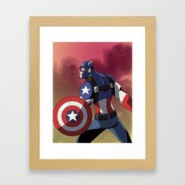 The Captain of America Framed Art Print