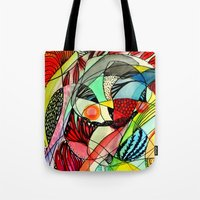 karma Tote Bags featuring karma by sylvie demers