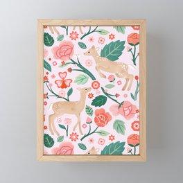 Festive Fawns  Framed Mini Art Print