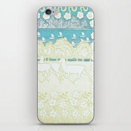Vintage Running Deer Print iPhone Skin