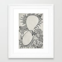 ampersand Framed Art Prints featuring Ampersand by Gyles Jenkins