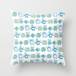 Lil Monsters Pattern Throw Pillow