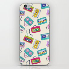 Vintage Cassette Tape Pattern iPhone & iPod Skin