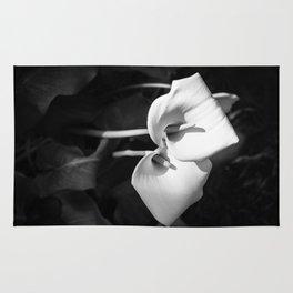 Giant White Calla Lily Rug
