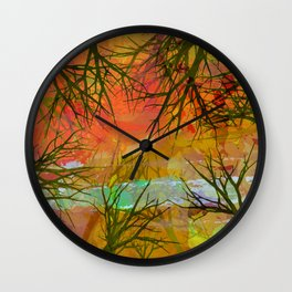 Autumn Branches Wall Clock