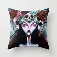 coven Throw Pillows featuring Coven by Kao Lee Thao @InnerSwirl.com