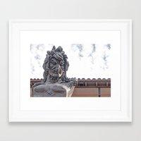 mythology Framed Art Prints featuring Mythology by lensebender