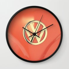 Big Orange Wall Clock