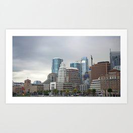 Downtown San Francisco, Changing Skyline Art Print