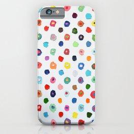 Concentric Confetti Polka Daubs iPhone Case