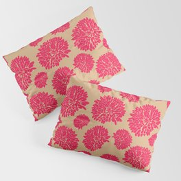 Flowers, Pinks, and Tan Pillow Sham