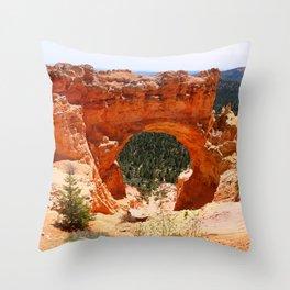 Natural Bridge - Bryce Canyon Throw Pillow