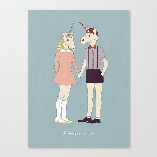Our love is unique, we are Unicorns (text version) Canvas Print