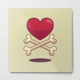 bone up on love Metal Print
