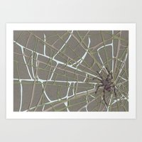 spider Art Prints featuring Spider  by Aiko Tagawa