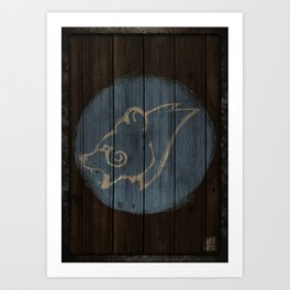 Bear Shield Art Print