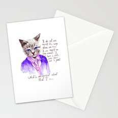 Fashion Mr. Cat Karl Lagerfeld and Chanel Stationery Cards