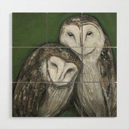Barn Owls Wood Wall Art