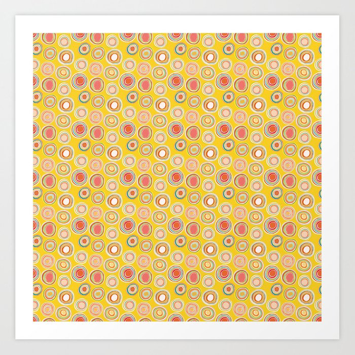 Bright Circles Robayre Art Print