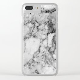 Marbled 2 Clear iPhone Case