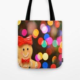 Gingerbread Bokeh Tote Bag