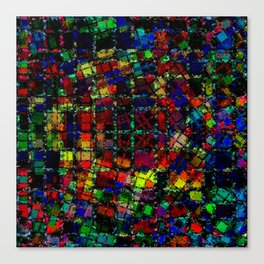 Urban Psychedelic Abstract Canvas Print