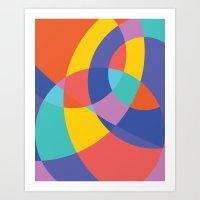 Geometric Beach Ball 1 Art Print