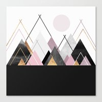 nordic Canvas Prints featuring Nordic Mountains by Elisabeth Fredriksson