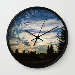 Sunset Path Wall Clock